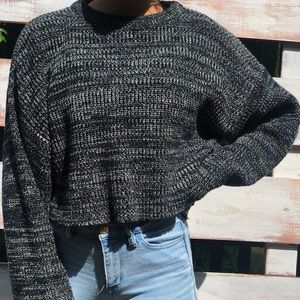 Cropped chunky sweater